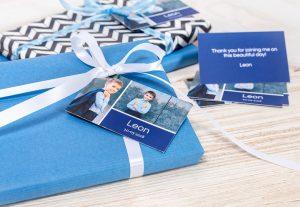 Étiquettes paquets cadeaux personnalisées