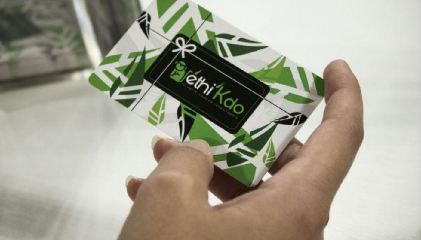 La carte Ethi'Kdo : carte cadeau écologique et personnalisée