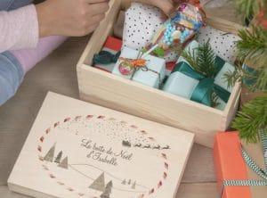 La boîte cadeau de noël personnalisée