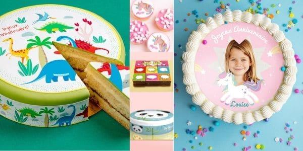 Cadeaux personnalisés pour customiser les gâteaux