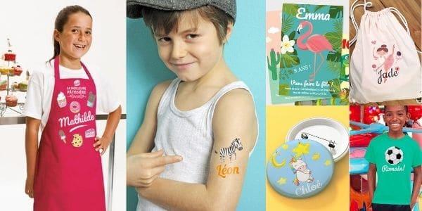 Cadeaux personnalisés pour enfants et copains